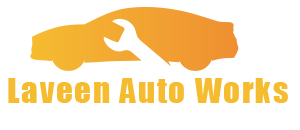 Laveen Auto Works logo transparent